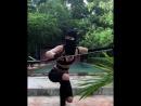 Sword 🗡Julia Volchkova. Тренируюсь вращать меч. Юлия Волчкова.