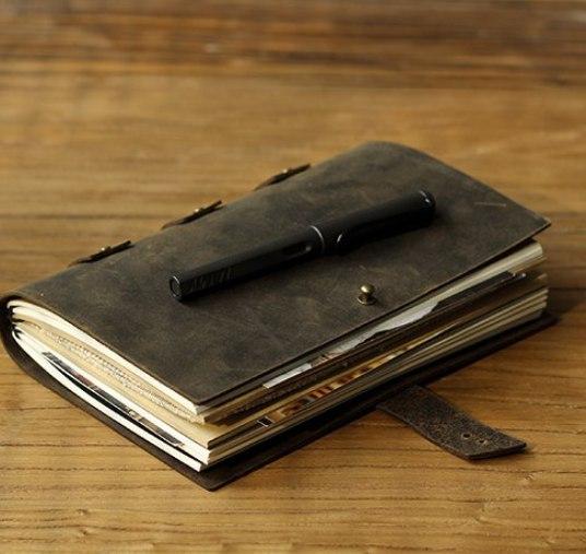 годный кожаный блокнот в стиле ретро