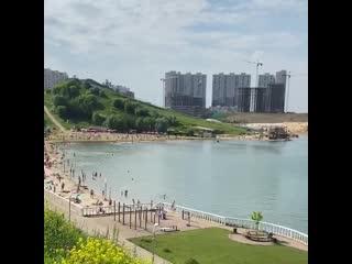 Пляж в Дзержинском