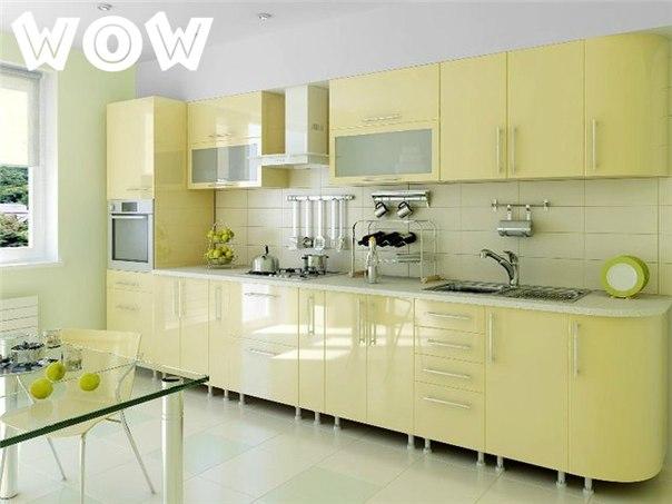 Интересная идея оформления кухни, креативные идеи для кухни, моноцветные кухни