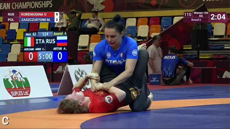 Round 3 Women - 71 kg: V. KORENIUGINA (RUS) v. M. ZASZCZUDŁOWI (POL)