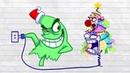 Max Pencil Decorates Chrismas Tree  New Pencilmation Cartoons For Kids 2019 Part 45