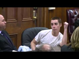 TJ Lane Flips Middle Finger To Courtroom   Sentenced To Life In Jail