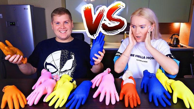 ТАЙНЫЕ ПЕРЧАТКИ СЛАЙМ ЧЕЛЛЕНДЖ 👀 Don't Choose the Wrong Glove Slime Challenge ЛИЗУН