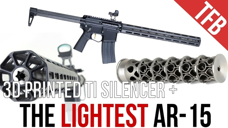 The World's Lightest AR-15: The ENYO Titanium 3D-Printed Silencer