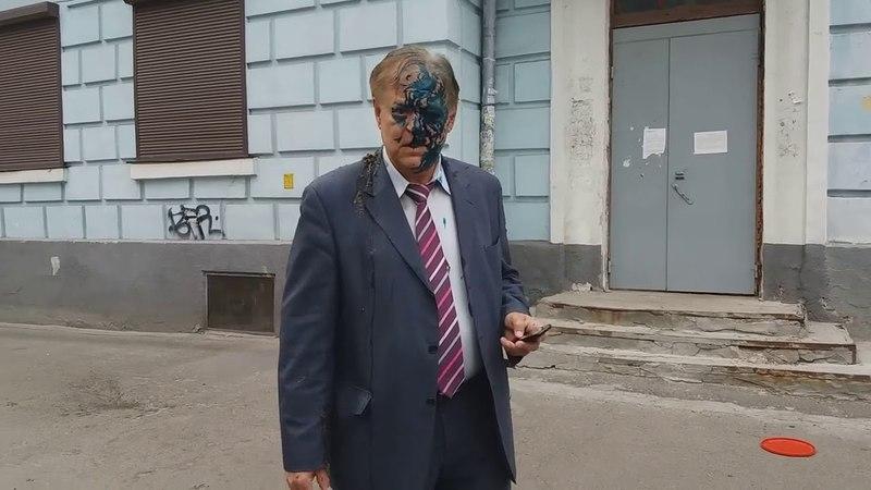 В Киеве патриоты облили нечистотами главу антиукраинской организацииРоссотрудничествоворобьева.