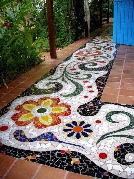 Пол-мозаика