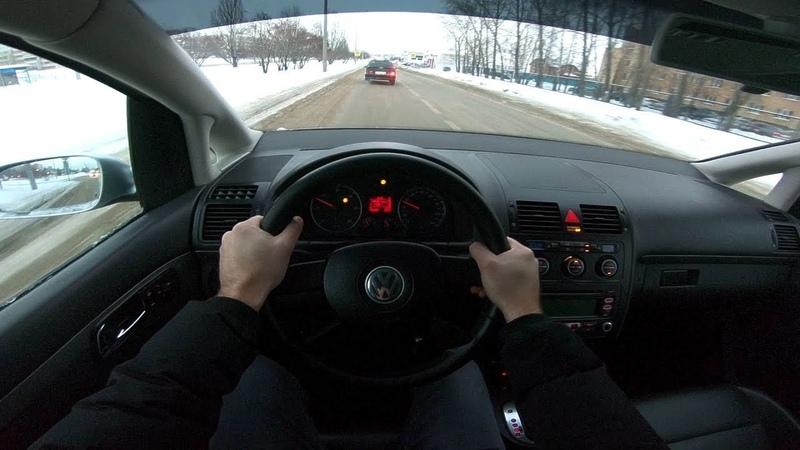 2006 Volkswagen Touran TDI 1.9L (105HP) POV CITY DRIVING