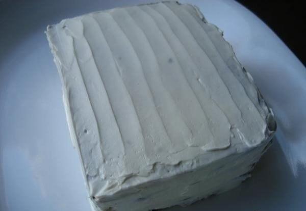 Бутербродный торт с копченым лососем и мягким