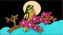 Paper Art | amazing Beautiful Quilling bird | Paper Quilling Art
