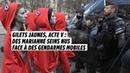 Gilets jaunes acte V des Marianne seins nus face à des gendarmes mobiles