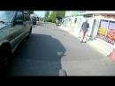 На районе. Тест крепления на руль для экшн-камеры