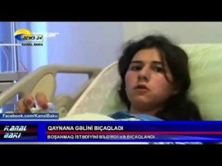 60 yasli Qaynana gelini bicaqladi 14.04.2014 / [vk.com/mehelle]