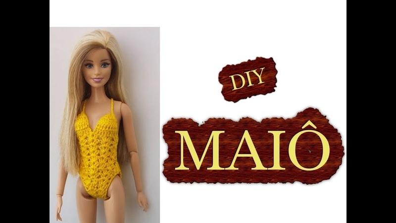 Barbie diy Maiô em crochê mais dica para boneca Susi da Estrela