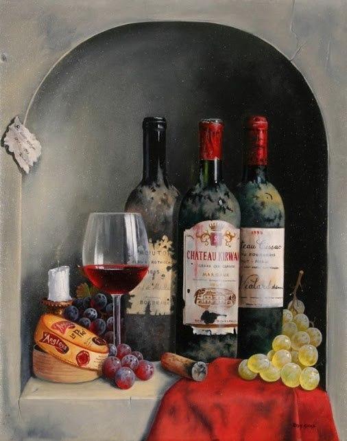 Картинки для декупажа бутылок вина