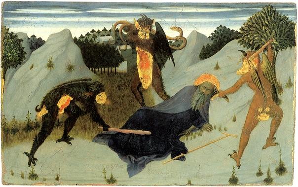 Образ святого Антония в искусстве Все работы подписаны Антоний Великий святой отшельник IV века, ставший символическим образом борьбы с искушениями. Отец монашества: первая исторически