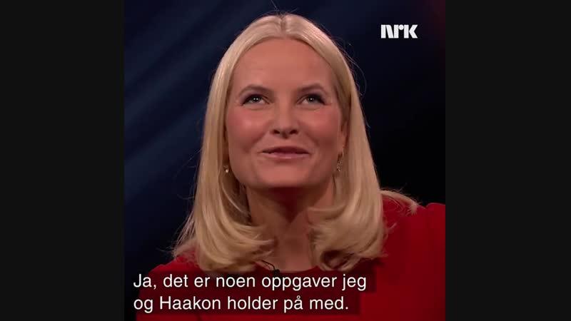 Kronprinsesse Mette Marit gjester et norsk talkshow Lindmo for første gang