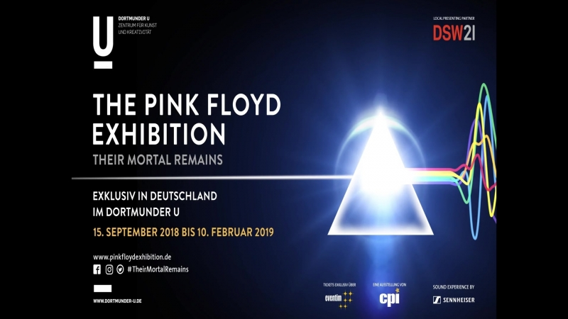 The official trailer for the PINK FLOYD Exhibition Their Mortal Remains (Dortmund, 15.09.2018 - 10.02.2019).
