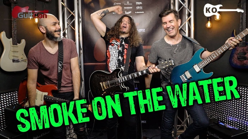 Deep Purple - Smoke on the Water - Electric Guitar Cover by Kfir Ochaion ft. Phil X Pete Thorn