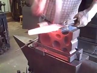 Кузнец Dave Hammer, ковка оружейного ствола
