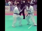 Уширо гери в прыжке в Кёкусинкай карате Подготовка бойца. http://vk.com/oyama_mas