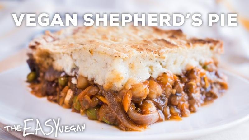 Easy Vegan Shepherd's Pie - Lentil Chickpea