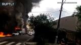 В Бразилии два человека погибли в результате падения частного самолёта на жилые дома