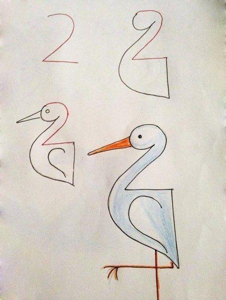 КАК НАУЧИТЬ РЕБЕНКА РИСОВАТЬ С ПОМОЩЬЮ ЦИФР Отличный способ вызвать у детей интерес одновременно к математике и творчеству предложить им рисовать с помощью цифр, дополняя их различными