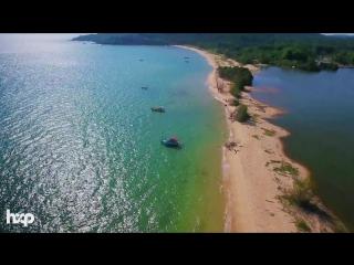 Vietnam - phu quoc beaches  by drone 4k