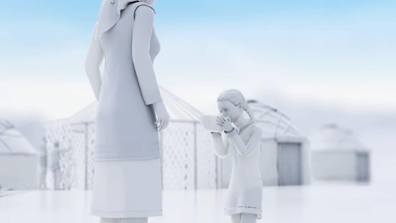 Анимационный вид 3d рекламмы