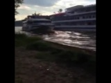 Drunken Captain slams a million dollar Yacht into a Cruise ship in the Moscow Canal