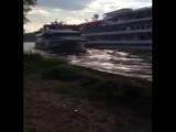 Столкновение судов в канале реки Москвы