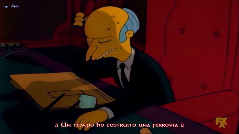 [The Simpsons] Mr. Burns - Brother Can You Spare a Dime? (Sub Ita)