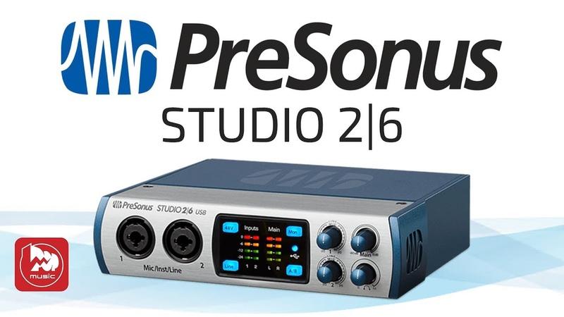 USB Аудио Интерфейс PreSonus Studio 2I6