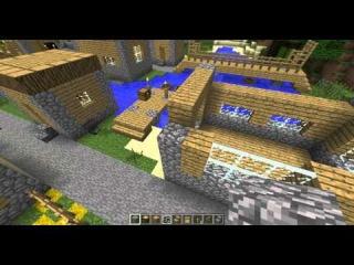 Майнкрафт. Строим дома как в деревни жителей.