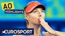 Maria Sharapova vs Caroline Wozniacki Highlights Australian Open 2019 Round 3 Eurosport