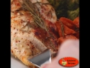 Ужин из запеченной курицы и овощей