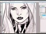Psylocke from the X-Men speed drawing by Mark Brooks