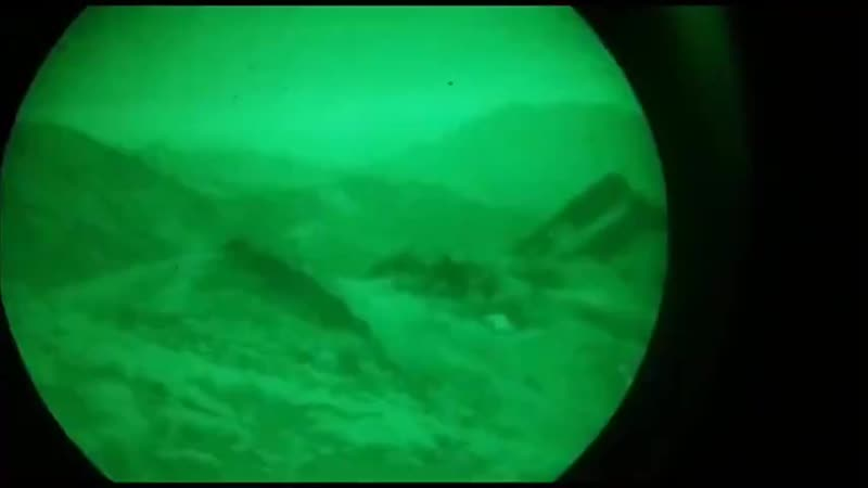 Turkish ATAK combat helicopters fire with their 20mm guns on PKK positions in northern Iraq.