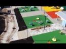 Укладка резинового покрытия на детской площадке - Вид с квадрокоптера