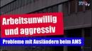 Arbeitsunwillig und aggressiv - Probleme mit Ausländern beim AMS!