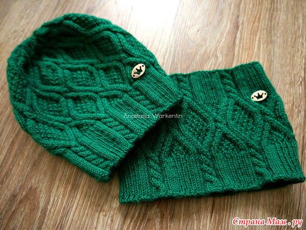 Вязаная шапочка и снуд для малышей (8 фото) - картинка