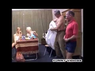 YOUNG - OLD RUSSIAN COUPLE STRIP DANCE COMEDY PORN +18