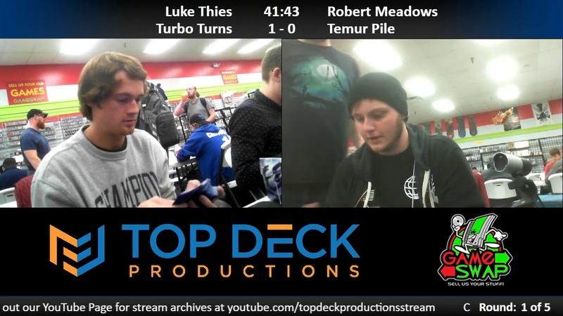 Modern FNM w Commentary 10 12 18 Luke Thies Turbo Turns vs Robert Meadows Temur Pile