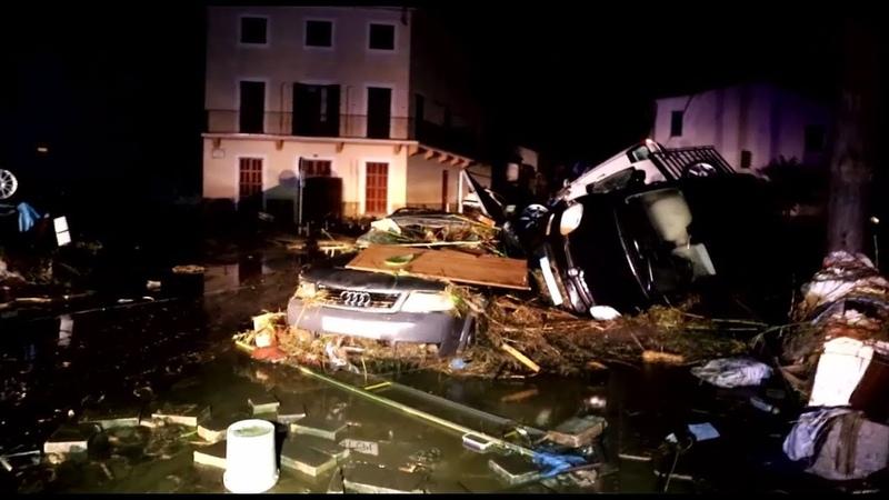 Испанскую Майорку накрыло мощное наводнение есть погибшие