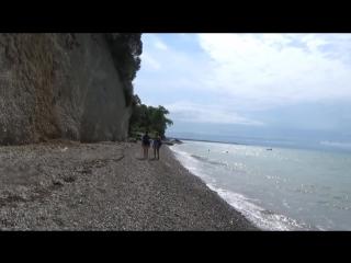От Мюссеры до храма Амбара по пляжу босиком, Абхазия, море
