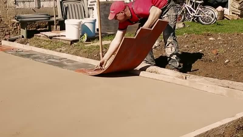 Как сделать имитацию доски из бетона