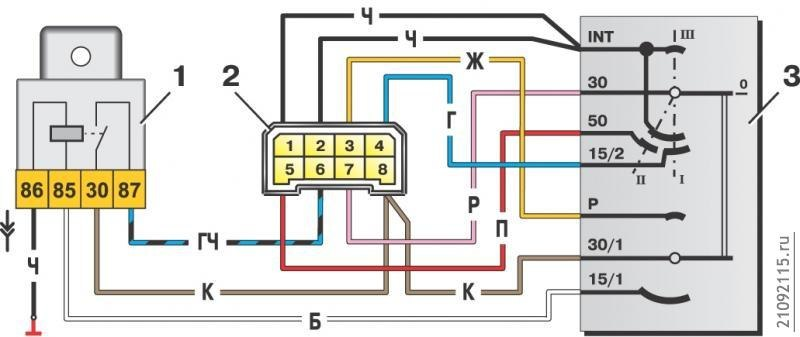 Схема подключения замка зажигания на ваз 2107 карбюратор