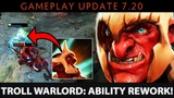 Dota 2 NEW 7.20 Patch - Troll Warlord Ability Rework