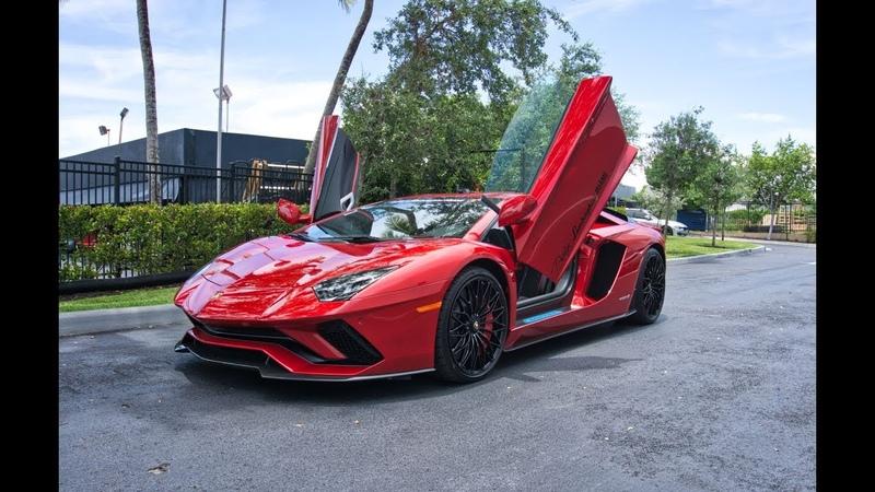 Lamborghini Aventador S ANGRY BULL Start Up Sound Interior Exterior at Lamborghini Miami